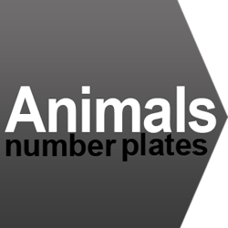 animal number plate ideas