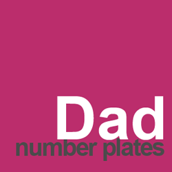 dad number plates