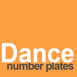 number plate ideas dance
