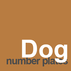 dog number plate ideas