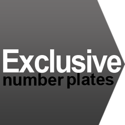 Exclusive number plates