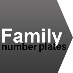 family number plate ideas