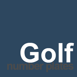 golf number plates