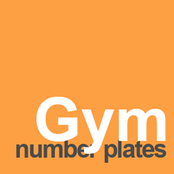 number plate ideas gym and fitness