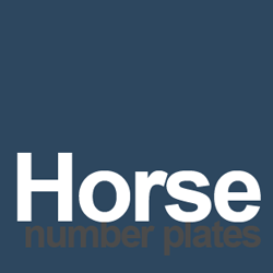 horse number plate ideas