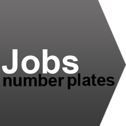 job number plates