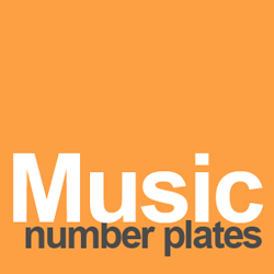 music number plates