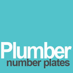 plumber number plates