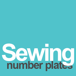 sewing number plates