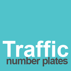traffic number plates