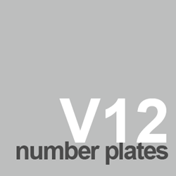 V12 number plate ideas