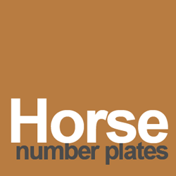 horse number plates