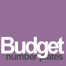 budget number plates
