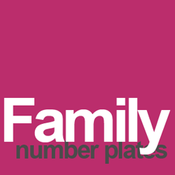family number plates