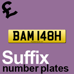 cheap suffix number plate ideas