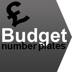 number plate ideas on a budget