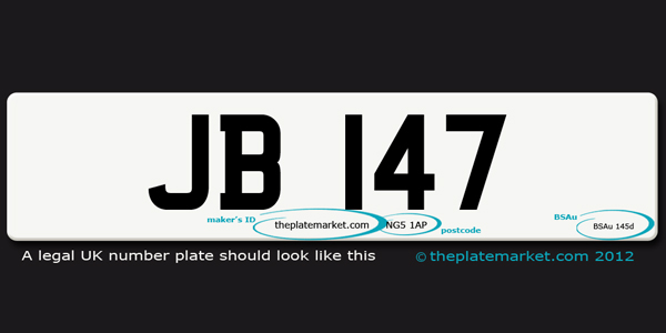 legal UK number plate