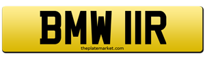 BMW private number plate
