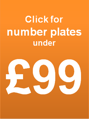 cheap personalised number plates under £99