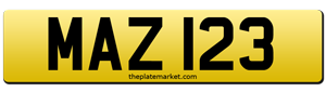 Mazda private number plate