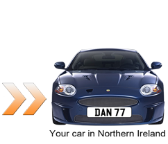 Number plate transfer to your car in Northern Ireland