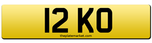 dateless number plates 12 KO