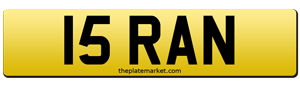 dateless number plates 15 RAN