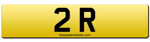 dateless number plates 2 R