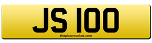 dateless number plates JS 100
