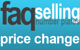 sell number plate change price