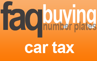 car not taxed transfer number plate