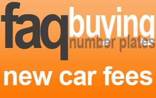 new car registration DVLA fee number plate