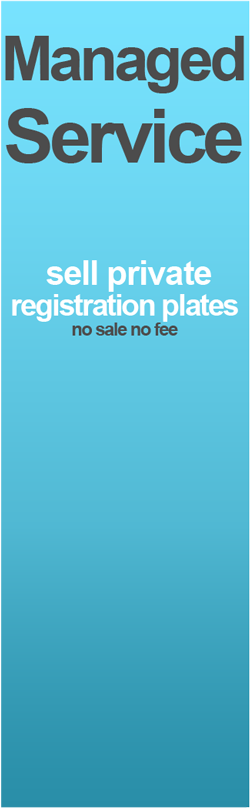 sell my private registration plate