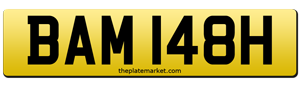 suffix number plates BAM 148H