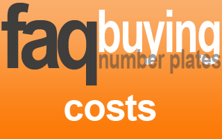 what are extra costs when buying a private number plate