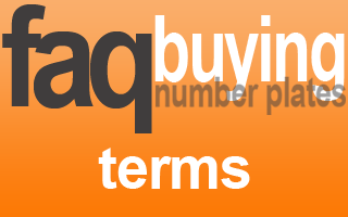 terms for buying private number plates
