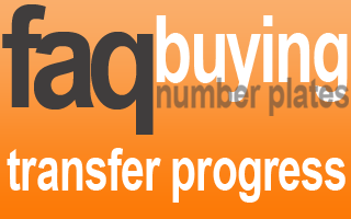 number plate transfer progress update