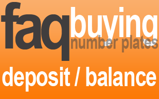 deposit and balance payment private number plates